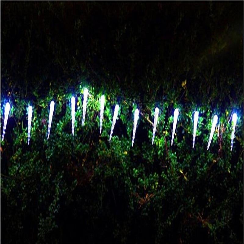 Holiday освещения 7,5 м 50 светодиодный сосулька дома Рождество Рождественские украшения Батарея огни Открытый Водонепроницаемый Фея Шторы стро…