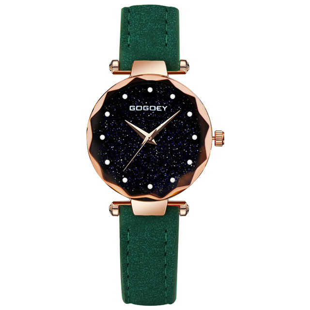 Exquisite Ladies Watch Starry Sky Female Leather Quartz Wrist Watch Elegant Wome