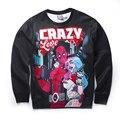 CHI RU YI 2016 New Arrive American Comic Badass Deadpool Sweatshirt Men/Women Harajuku CRAZY 3D Hoodies Pullovers