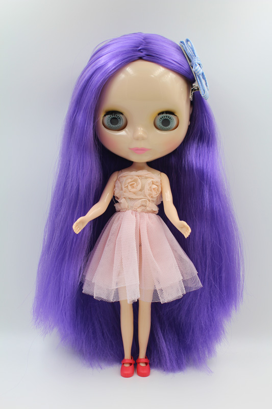 купить Free Shipping big discount RBL-298DIY Nude Blyth doll birthday gift for girl 4colour big eyes dolls with beautiful Hair cute toy дешево