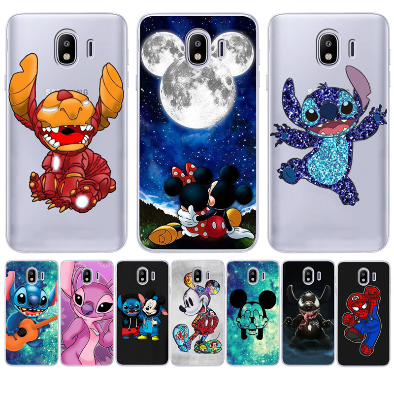 Cartoon Stich <font><b>marvel</b></font> Für <font><b>Samsung</b></font> <font><b>Galaxy</b></font> J3 J4 <font><b>J5</b></font> J6 J7 J8 Plus 2016 <font><b>2017</b></font> 2018 J2 Prime telefon Fall zurück Abdeckung Coque Etui funda image