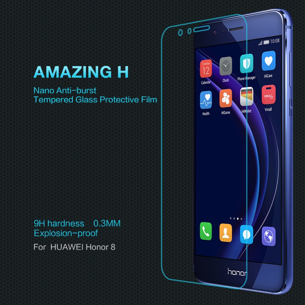 Premium touch screen For huawei honor 8 Nillkin H Tempered Glass projection screen For honor 8 0.33mm 2.5D 9H Screen Protector