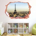 Fashion Romantic Paris Eiffel Tower Sticker wall stickers 3D Paris view mural living bedroom quarto wall decals Home Decor gift