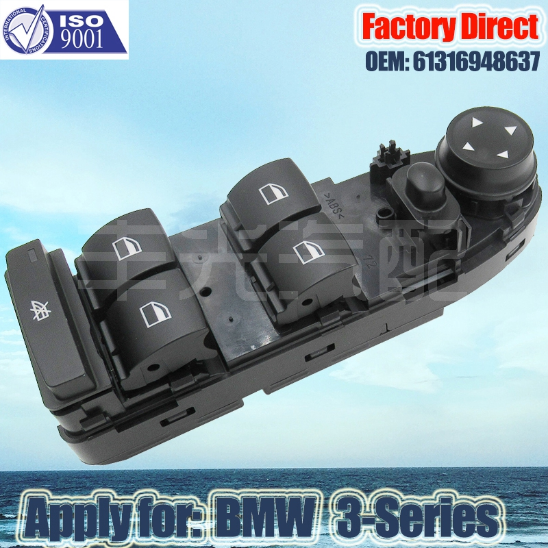 Factory Direct Auto Power Window Switch Apply For BMW 3 Series E90 E90N E91 E91N LHD Window Lifter Switch 61319217330