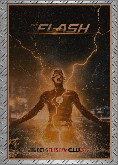 "The Flash- Home decor Vintage poster ""The Flash""  (20 types)"