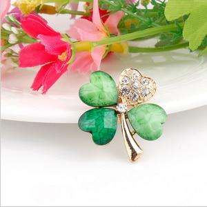 WEIMANJINGDIAN, светильник, Зеленый лист, кристалл, ирландский Трилистник, брошь, отворот, воротник, булавки для мужчин и женщин