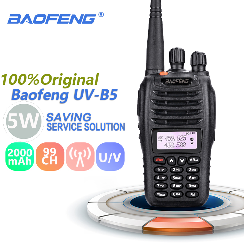 Baofeng UV-B5 Lightweight Portable Radio Walkie Talkie UHF VHF Dual Band Ham Radio Hf Transceiver Walky Talky Professional RadioBaofeng UV-B5 Lightweight Portable Radio Walkie Talkie UHF VHF Dual Band Ham Radio Hf Transceiver Walky Talky Professional Radio