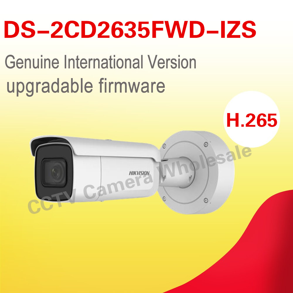 International English version DS-2CD2635FWD-IZS 3MP WDR Bullet Network ip cctv Camera POE Vari-focal motorized lens H.265+ in stock free shipping english version ds 2cd2742fwd izs audio poe 4mp wdr vari focal motorized lens dome network ip camera