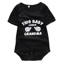 Baby Girl Casual Clothes Newborn Kids Cartoon Jumpsuit Infant Letter Bodysuit Baby Black Boy Outfit 0-12M