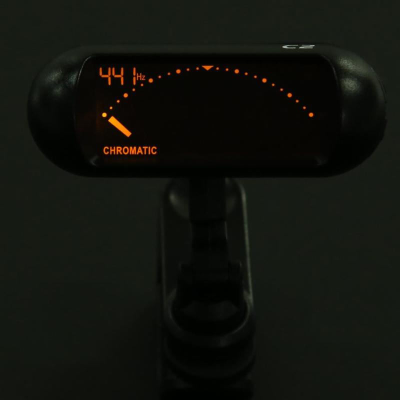 Digital Guitar Clip On Tuner Chromatic LCD Dual Rotating Shafts Electric Tuner for Bass Guitar Accessories