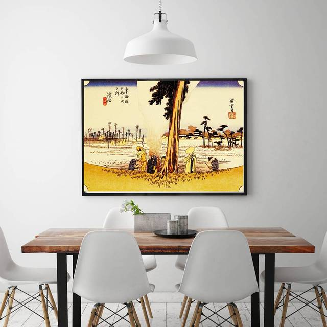 Japan Style Classical Vintage Landscape Painting Print Canvas for ...