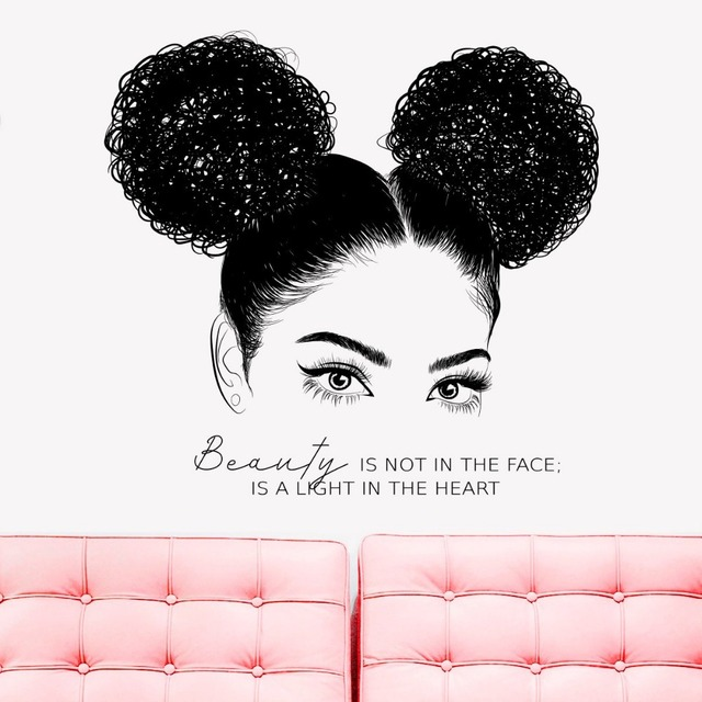 6fea906399e Inspire Beauty Quote Decals Cute Girl Wall Sticker Eyelashes Brows Eye  Vinyl Stickers Beauty Salon Girls