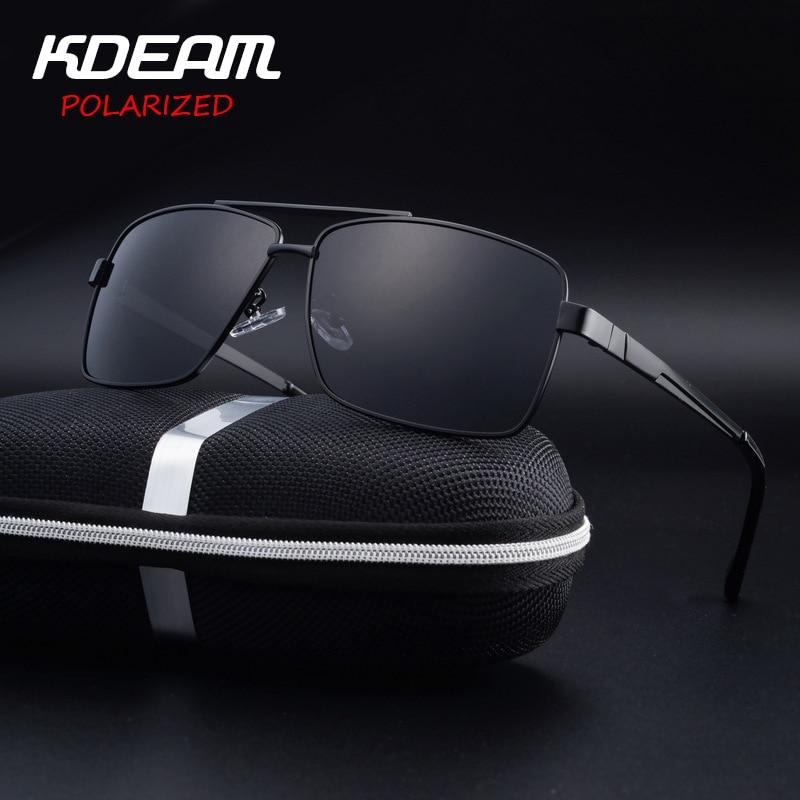 2c92b558be43d KDEAM Eyewear Men Sunglasses Square Frame Driving Sun Glasses HD Polarized  lens 4 Colors Women oculos de sol UV400 KD710