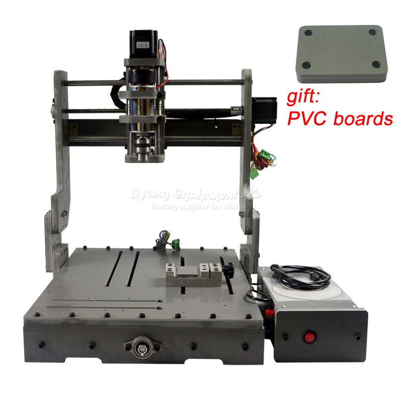 300W CNC Router 3040 Cutting Milling Engraving Machine Mini Lathe engraver for DIY new design 3040 cnc frame cnc 3040 mini lathe free tax to ru eu