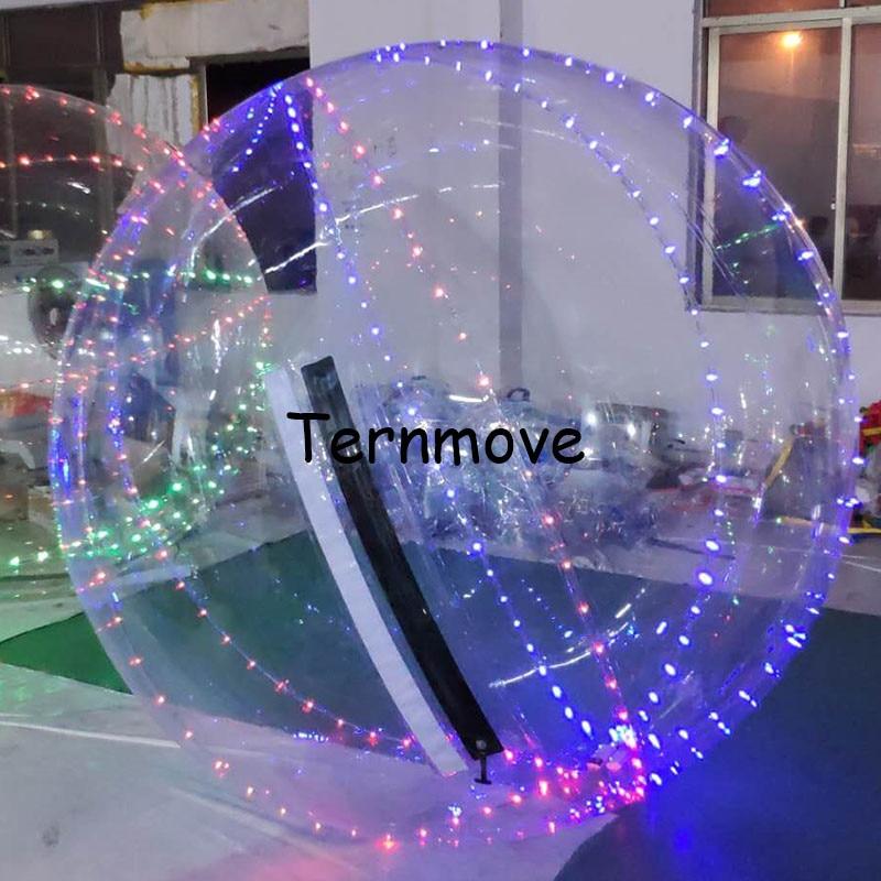 Надувной шарик воды со светодиодной подсветкой воды rollering человека Боулинг Мячи для игры танец Balles воды ходьбы balles для события