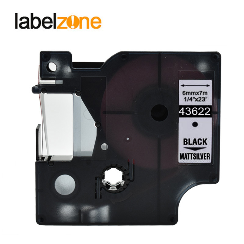 """6x TZ S221 Black White Label Tape TZe 221 3//8/"""" 26/' 9mm 8m Compatible for Brother"""
