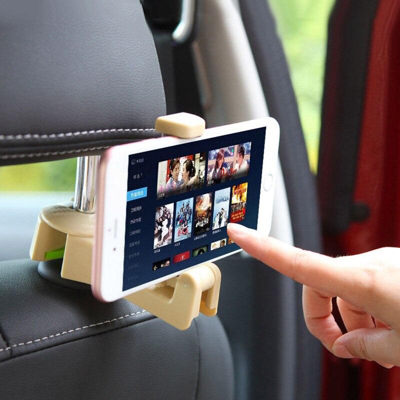ZASMO Vehicle Hook Multi-Function Seatback Hook Mobile Phone Bracket Car Is Tied To Car Rear Seat Phone Holder