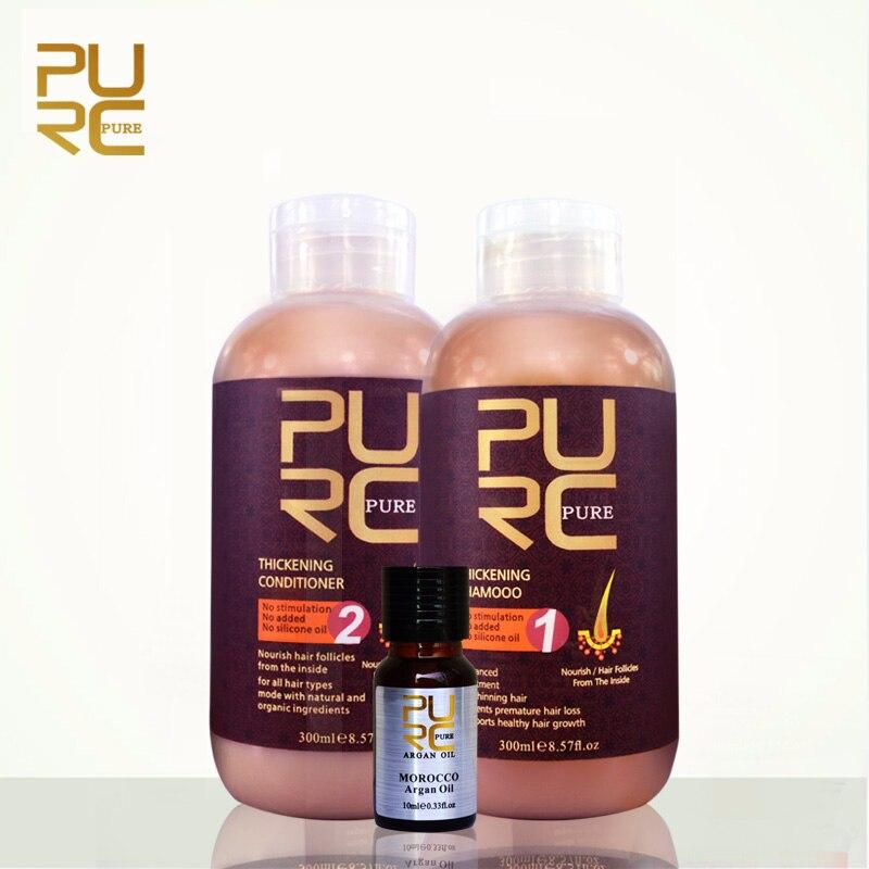 PURC shampooing et revitalisant pour la croissance des cheveux et la perte de cheveux empêche les cheveux éclaircissants prématurés pour les hommes et les femmes