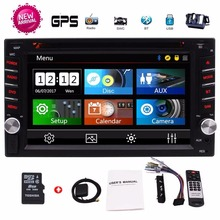 2 Din Car GPS Navigation Stereo DVD CD Bluetooth GPS Radio Entertainment support USB SD AUX 1080P 8G gps Card Rear View Camera