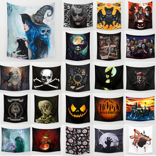 Halloween tapestry witch ghoul  square wall hanging tapestries  home decoration  wall tapestry 1500mm*1500mm halloween witch printed waterproof wall hanging tapestry