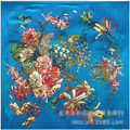 90cm * 90cm spring and summer lady new flower pattern scarf women scarves