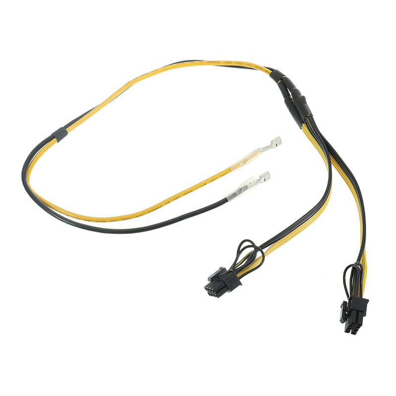 2pcs Dual PCIe PCI-E Graphics Video Card 8pin 6+2pin DIY Splitter Power Cable Graphics Power Supply Line Graphics Card RIG Miner vg 86m06 006 gpu for acer aspire 6530g notebook pc graphics card ati hd3650 video card