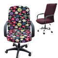 Large size office Computer chair cover side zipper design arm chair cover recouvre chaise stretch rotating lift chair cover