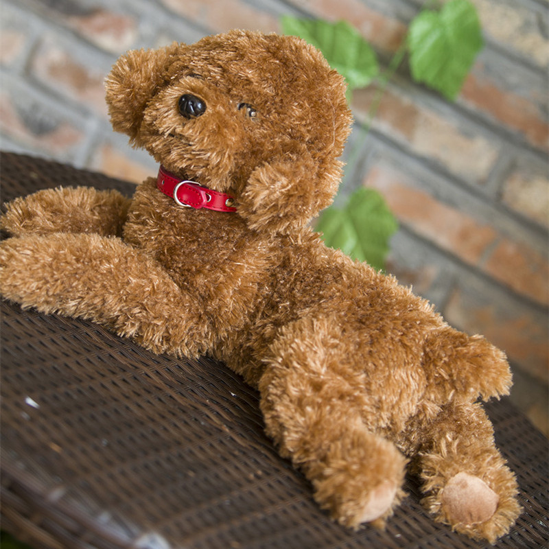 Simulation Poodle Plush Toy Superman Puppy Stuffed Animal Gift For