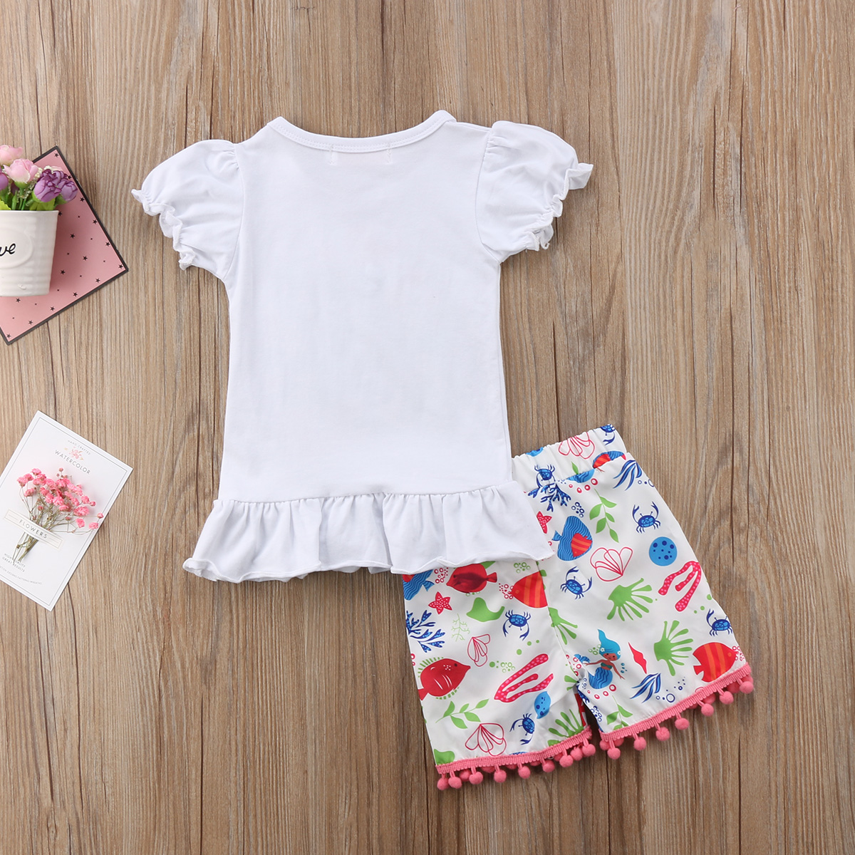 361f2c3af Hawaii Mermaid Toddler Kids Baby Girls Tassels Top T shirt Shorts Pants  Clothes Outfits-in Clothing Sets from Mother & Kids on Aliexpress.com |  Alibaba ...