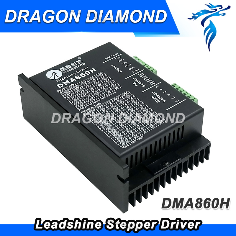 2 Phase Leadshine Stepper Motor driver DMA860H Max 80VAC or +110VDC 7.2A for Nema 34 Stepper Motor up for MA860H leadshine 2 phase analog stepper driver m542 max 50 vdc 4 2a for stepper motor nema 23