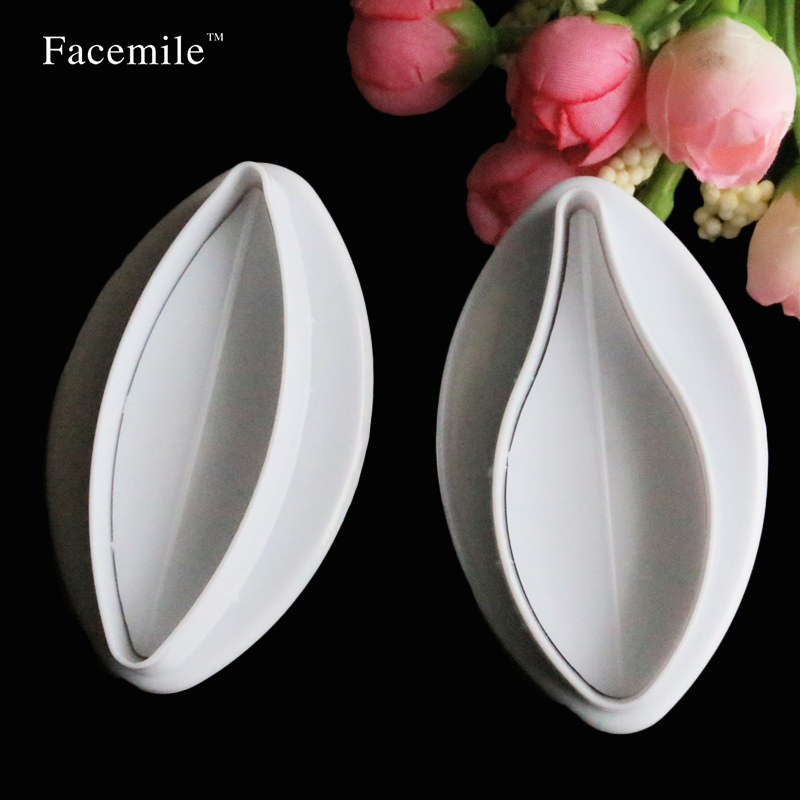 Lily Nail Cake Decorating : 2pcs/set Plastic Lily Shaped Fondant Cake Decorating Sugar ...