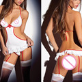 sexy lingerie hot COSPLAY nurse babydoll temptation erotic costume transparent sexy underwear teddies sex product lenceria sexy