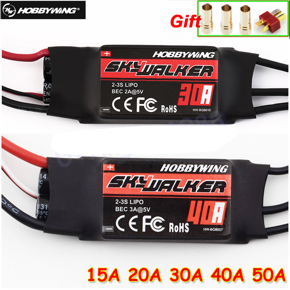 हॉबीवॉइंग स्काईवॉकर 12A 15A 20A 30A 40A 50A 60A 80A ESC स्पीड कंट्रोलर UBEC के साथ RC FPV Quadcopter RC Airplanes हेलीकाप्टर