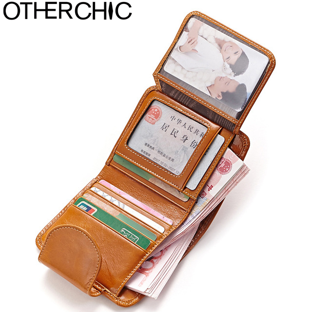 OTHERCHIC Vintage Women Short Wallets Genuine Leather Small Roomy Wallet Coin Pocket Female Wallet Purses Money Clip 5N12-10 otherchic women short wallets small simple wallet zipper coin pocket purse woman female roomy wallet purses money bag 7n01 14