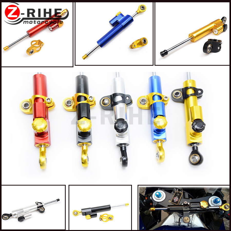 for moto CNC Damper Steering StabilizerLinear Reversed Safety Control Over for honda cbr 600 rr cnc crf 250 bicicleta f800gs suz