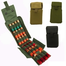 Tactical Molle 25 Round 12GA 12 Gauge Magazine Pouches Magazine Ammo Shells Bag for Hunting Shotgun Reload