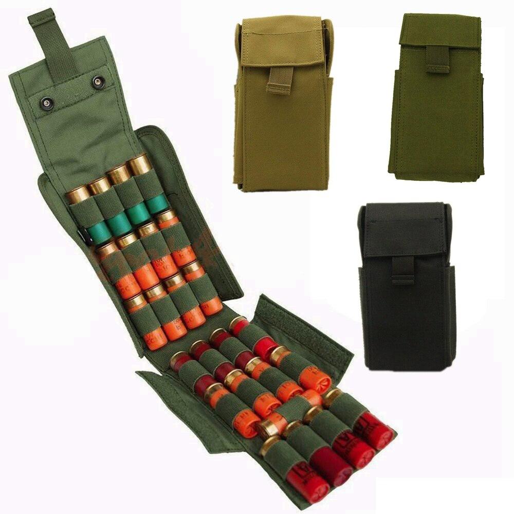 Tattico Molle 25 Rotonda 12GA Calibro 12 Porta Caricatori Magazine Ammo Conchiglie Sacchetto per la Caccia Shotgun Reload