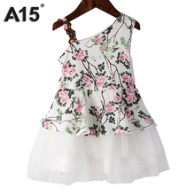Vestido de Niña de Flores blanco  Edad 3, 4, ,5 6 y 8 Años