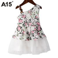 A15 Girls Dress For Party And Wedding 2017 New Summer Flower Girl Dress White Kids Dresses