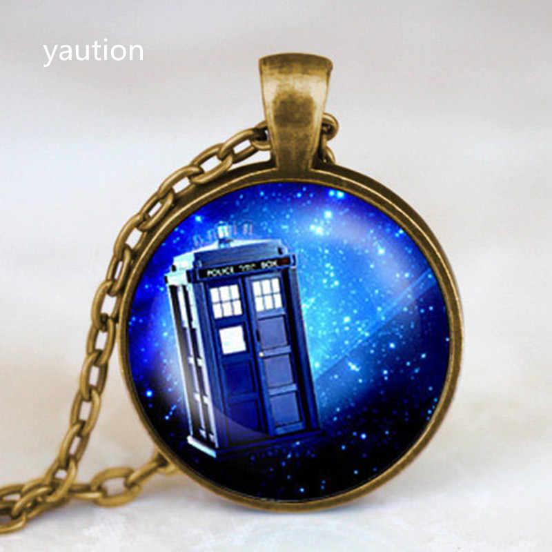 Nova Steampunk drama doctor who tardis colar dr who timelord companheiro senhor do tempo Nebulosa roxo cadeia Pingente mens jóias