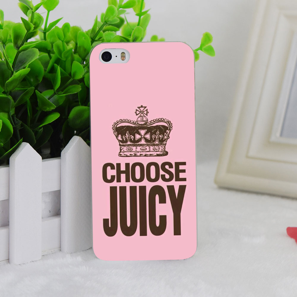 A1232 Choose Juicy Style Transparent Hard Thin Case Cover For Apple iPhone 4 4S 5 5S SE 5C 6 6S 6Plus 6s Plus