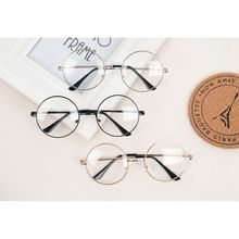 Unisex Retro Large Round Glasses Oversized Metal Frame Eyeglasses Glasses Clear Lens 6 Colors