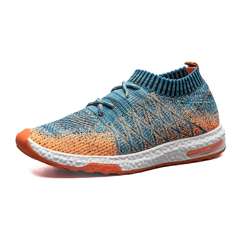 Autumn Flyknit Men Running AIR Cushioning Stretch Lightweight Mesh font b Sneakers b font Classic Socks
