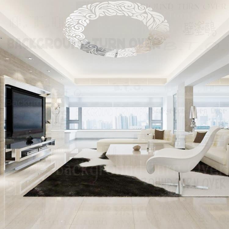 diy creativo de la manera del anillo del crculo espejo del techo decorativo etiqueta de la pared para la sala de estar comedor