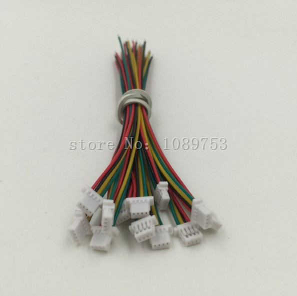100Pcs 10cm/15cm/20cm Wire 1.0mm Pitch 4P Electronic Cable Single Header Connector