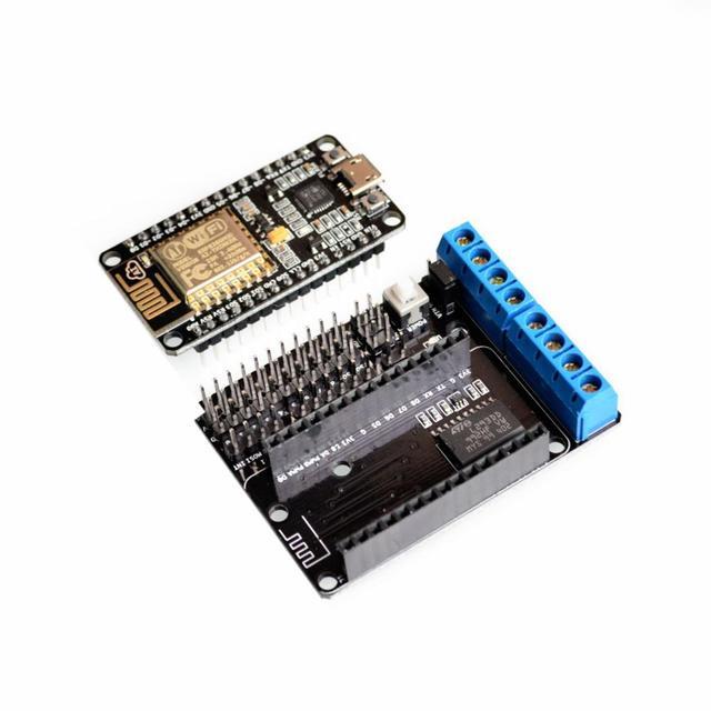 Kit de Desenvolvimento NodeMCU NodeMCU + Escudo Do Motor esp esp wifi esp8266 esp-12e 12e kit diy rc controle remoto brinquedo Lua ioT inteligente carro