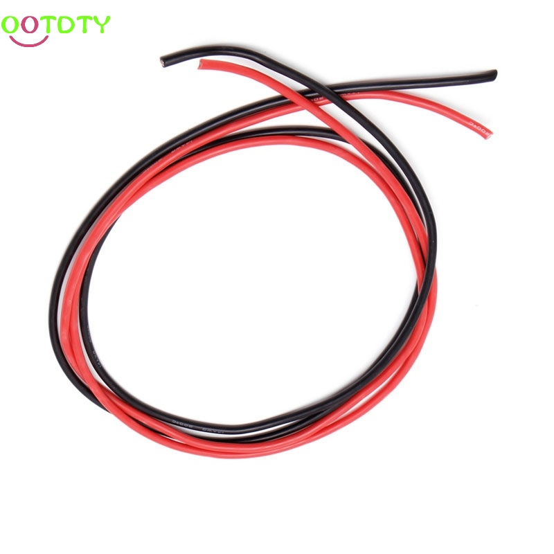 1Set 14 AWG Gauge Silicone Wire Flexible Stranded Copper Cables 2m Accessories for RC Black Red