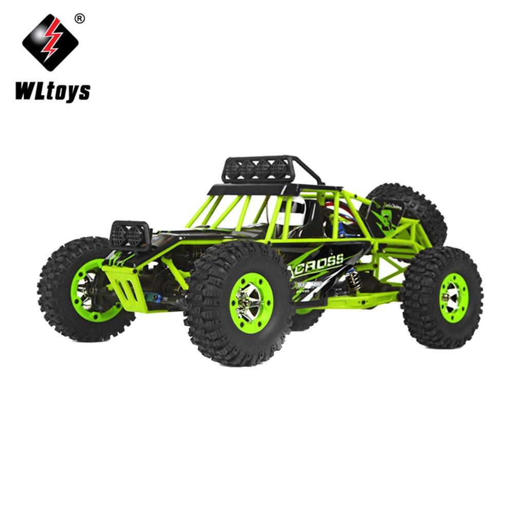 Mini voiture RC pour WLtoys 12428 1:12 échelle véhicule tout-terrain 2.4G 4WD haute vitesse monstre camion radiocommande enfant jouet Y