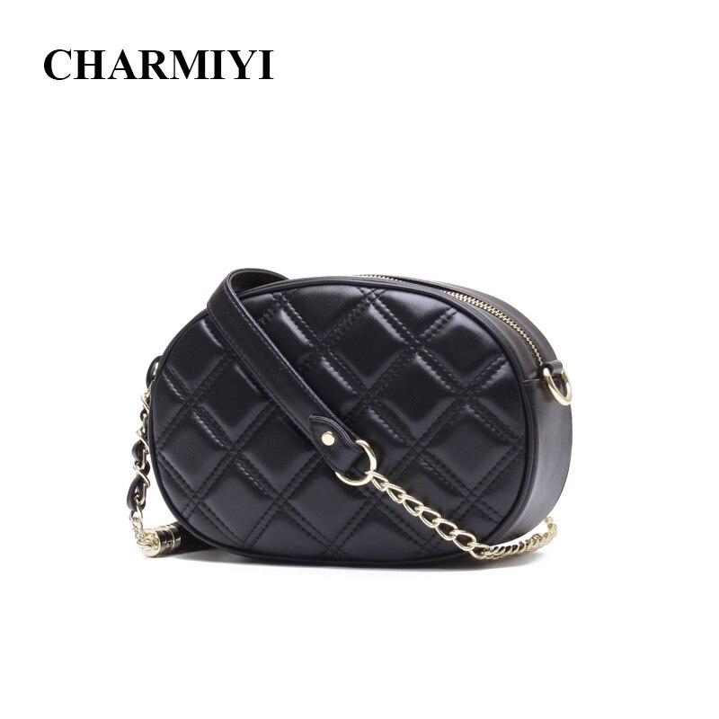 CHARMIYI Women Real Leather Designer Chain Messenger Bags 2018 Small Clutch Women Shoulder Bag Mini Tassels Lady Crossbody Bag