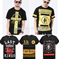 2016 marca de moda últimos reyes mens camiseta, alta calidad lk hip hop clothing camiseta de manga corta hombre camisa masculina del swag